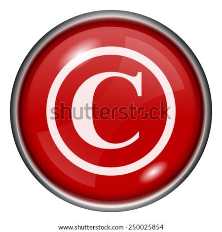 Copyright icon. Internet button on white background.  - stock vector