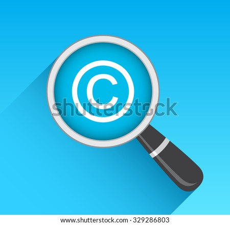 Copyright Icon Magnifying Glass