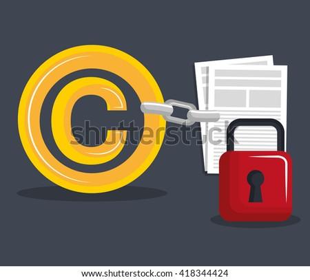 copyright symbol design  - stock vector