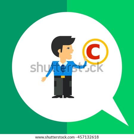 Copyright Symbol Icon - stock vector