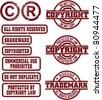 Copyright & Trademark Grunge Stamps - stock vector