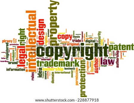 Copyright word cloud concept. Vector illustration - stock vector
