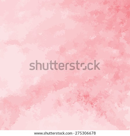 coral red watercolor texture background, hand painted vector illustration - stock vector