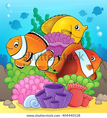 Coral reef fish theme image 7 - eps10 vector illustration. - stock vector