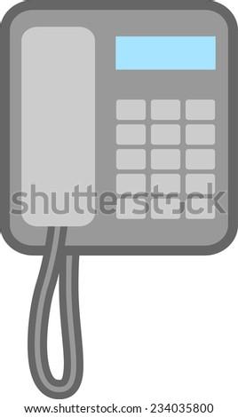 corded telephone icon - stock vector