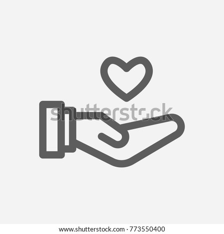 Core Values Responsible Icon Line Heart Stock Vector Hd Royalty