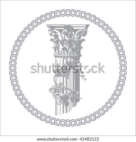 Corinthian column - stock vector