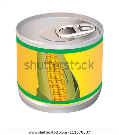 corn can on a white background