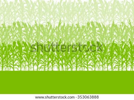 Corn field green abstract rural autumn biomass biofuel vector background - stock vector
