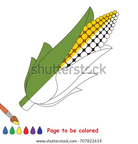 corn the coloring book to educate preschool kids with easy gaming level the kid - Book To Color