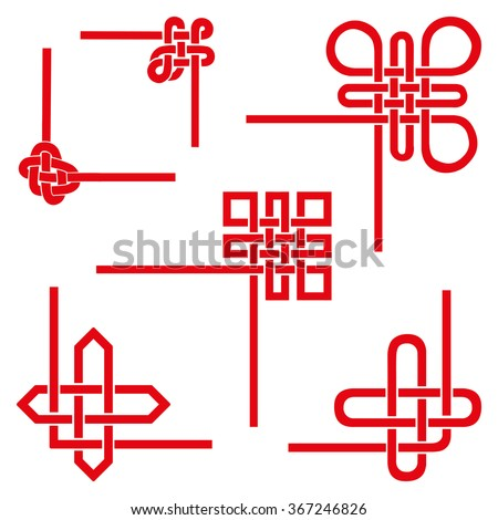 Corner Decorative Set Endless Auspicious Knot China Tibet Eternal