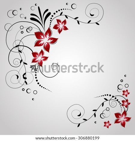 Corner flowers invitation card swirl flowers stock vector hd corner flowers for invitation card swirl flowers background in vector wedding design elements stopboris Image collections