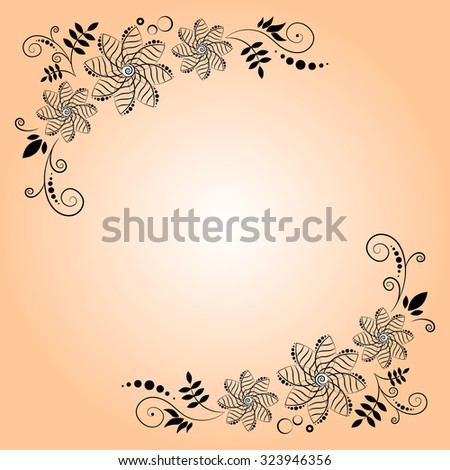 Corner flowers invitation card swirl flowers stock vector 2018 corner flowers for invitation card swirl flowers background in vector wedding design elements stopboris Image collections