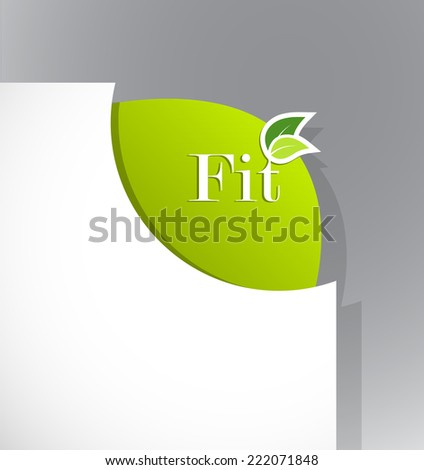 Corner on paper with fit sign. - stock vector