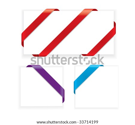 Corner Ribbons (vector). In the gallery also available XXL jpeg image made from this vector - stock vector