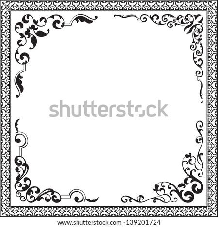 Corner set isolated on white - stock vector