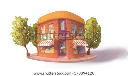 Corner store - stock vector