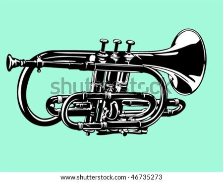 cornet - stock vector