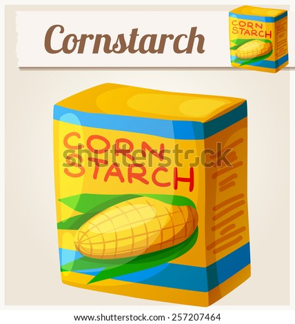 Cornstarch. Detailed Vector Icon. Series of food and drink and ingredients for cooking. - stock vector