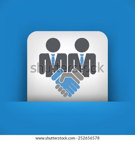 Corporate agreement icon - stock vector
