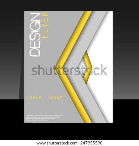 Corporate banner design, brochure template for business - stock vector