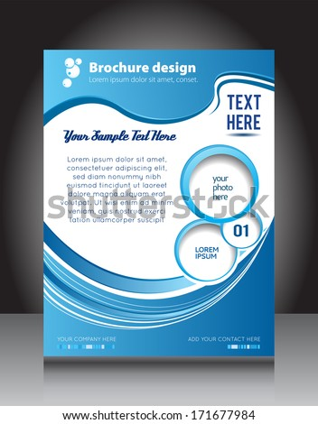 Corporate brochure cover design, illustrated business presentation. - stock vector