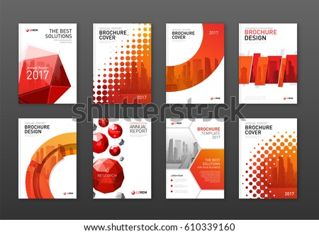 Corporate Brochure Cover Design Templates Set Stock Vector 610339160