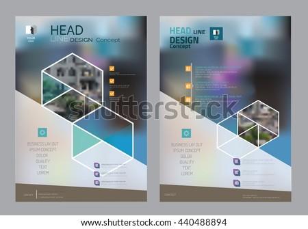 Corporate Brochure Flyer Design Layout Template Stock Vector ...