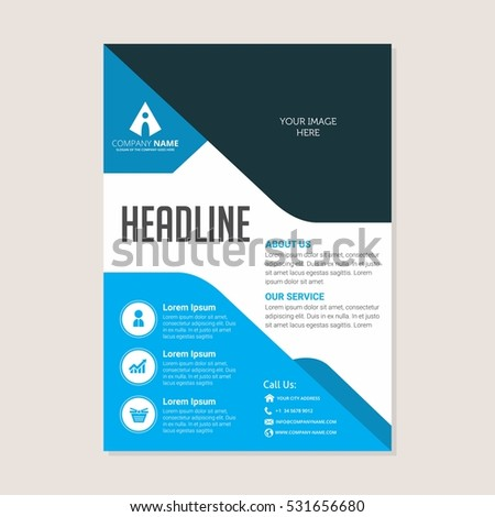 corporate business annual report brochure flyer design leaflet cover presentation flier with abstract geometric