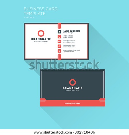 Corporate business card print template personal stock vector corporate business card print template personal visiting card with company logo clean flat design fbccfo Choice Image