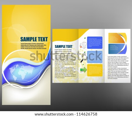 Corporate business design, brochure - stock vector