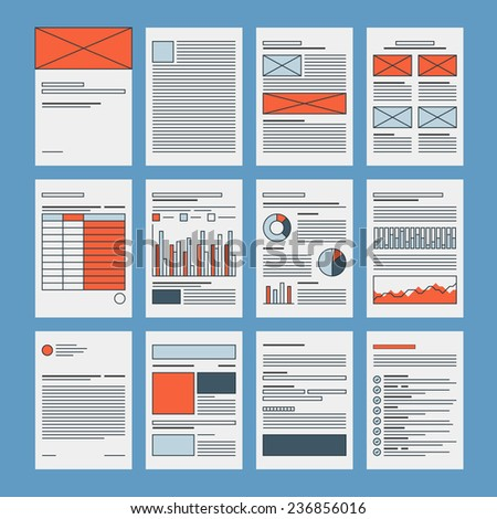 corporate business documents template company presentation files layout financial data and marketing research abstract - Business Documents