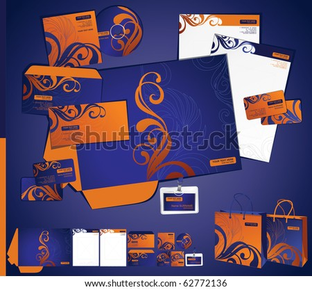 corporate business layout - stock vector