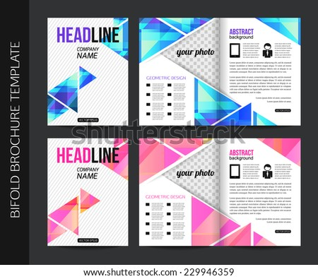 Corporate Business Stationery Bifold Brochure Templates Stock Photo