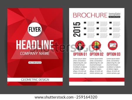 Retro Color Table Style Flyer Template Vector 238486183 – Retro Brochure Template
