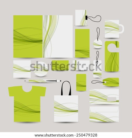 Corporate business style, abstract design green. Vector illustration - stock vector