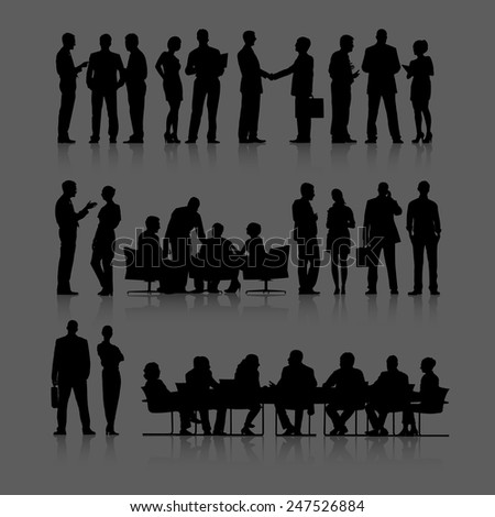 Corporate Business Teamwork Meeting Partnership Vector Concept