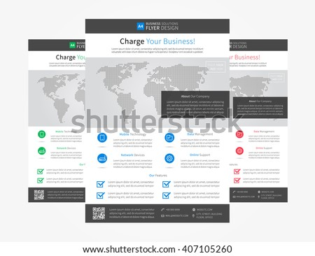 corporate flyer brochure template vector design stock vector
