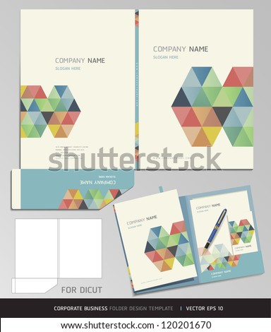 Corporate Identity Business Set. Folder Design Template. Vector illustration. - stock vector