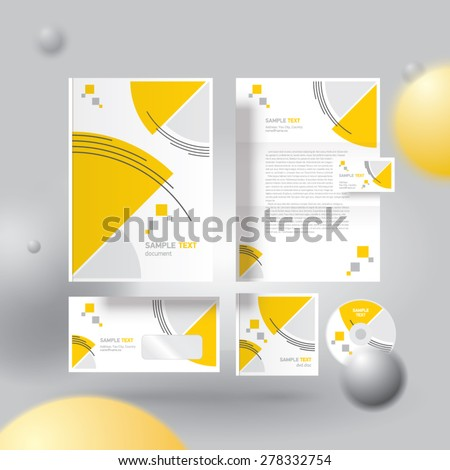 Corporate identity design template circles - stock vector