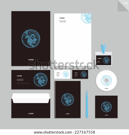 Corporate identity design vector - Stationery set design. - stock vector