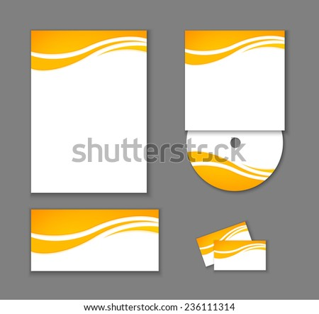 Corporate Identity elements isolated, vector editable illustration. - stock vector