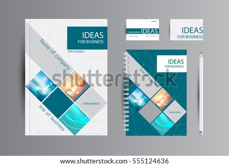 corporate identity business catalog cards notebook stock vector
