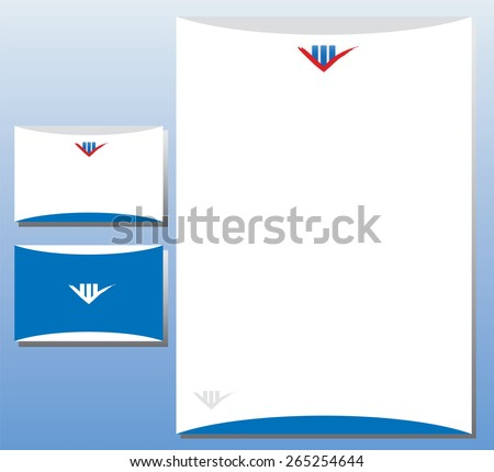 Corporate Identity Set - Real Estate / Finance - stock vector