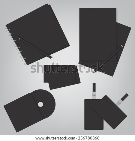 Corporate identity template - stock vector