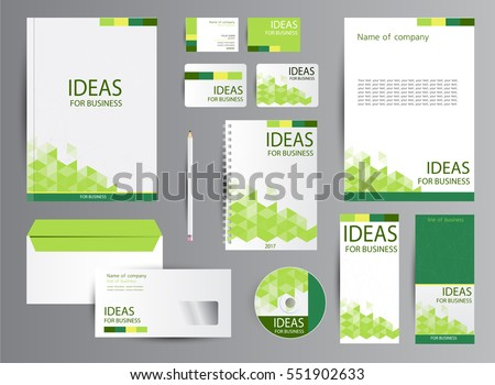 Corporate Identity Template Design Business Stationery Stock Vector ...