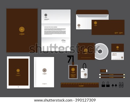 Corporate identity template your business includes stock vector corporate identity template for your business includes cd cover business card folder ruler colourmoves