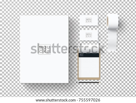 Corporate identity template set business stationery stock vector corporate identity template set business stationery mock up with logo template set of reheart Image collections