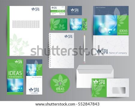 Corporate Identity Templates Spa Yoga Stock Vector 552847843 ...