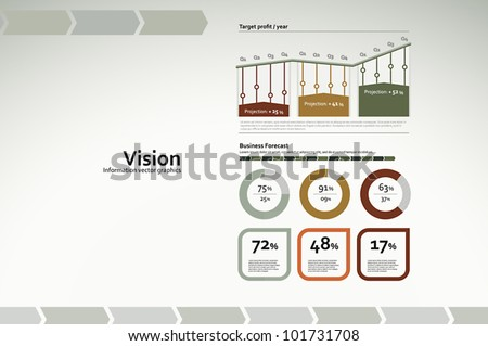 Corporate infographics for reports and presentations - stock vector
